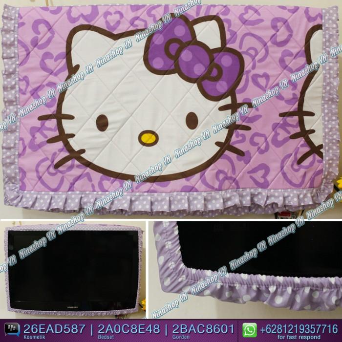 harga Cover tv,bando tv,tutup tv led/lcd motif hk leopard purple Tokopedia.com