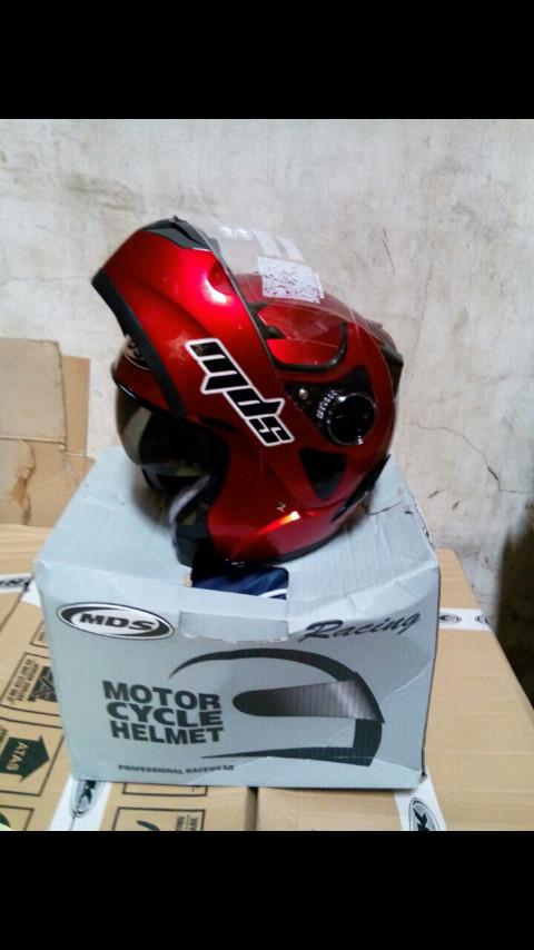 harga Helm mds prorider glossy solid pro rider fullface flip up Tokopedia.com