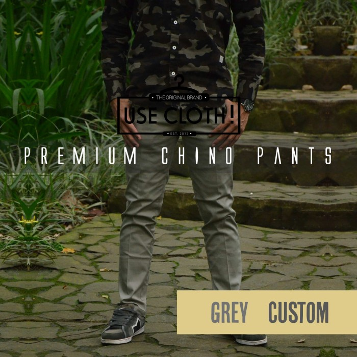 harga Celana Chino, Jogger, Cargo Panjang Grey [localbrand: Use-cloth] Tokopedia.com