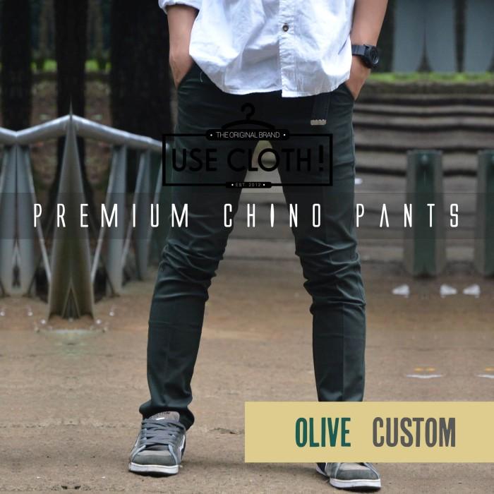 harga Celana chino, jogger, cargo panjang olive [localbrand: use-cloth] Tokopedia.com