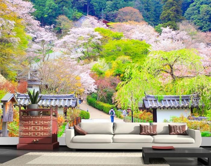 Wallpaper Dinding Custom Motif Japan Pemandangan Jepang Jepang