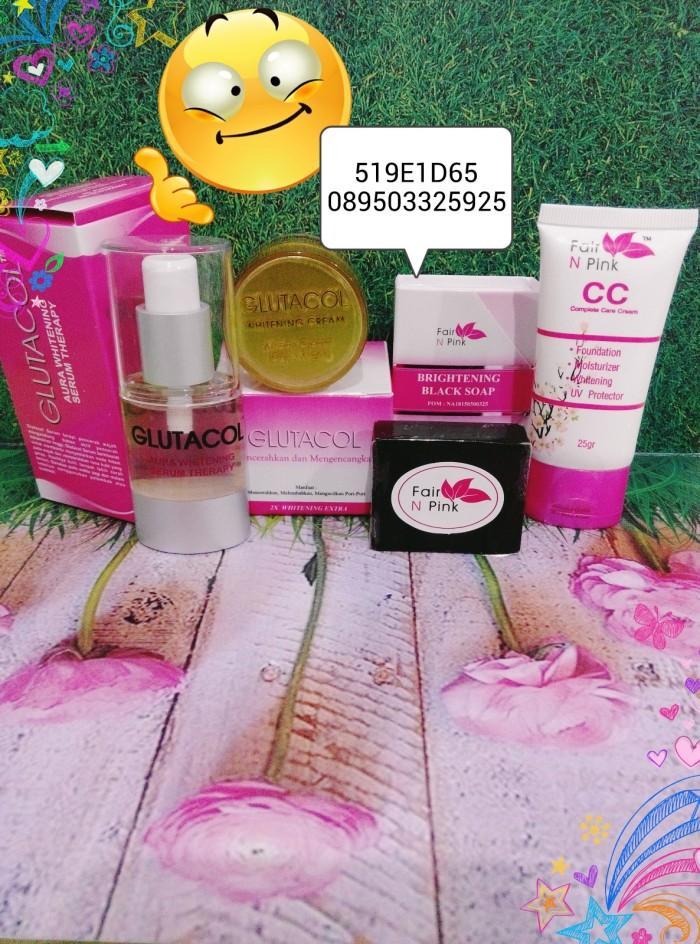 SABUN Fair n pink. PAKET SUPER EKONOMIS GLUTACOL 10GR+CC .