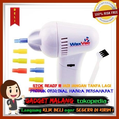 Electric Ear Wax Vacuum Vac Wax Removal / Pembersih Telinga - White