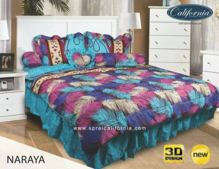 Bed Cover Set California King 180x200 No.1 Motif Naraya