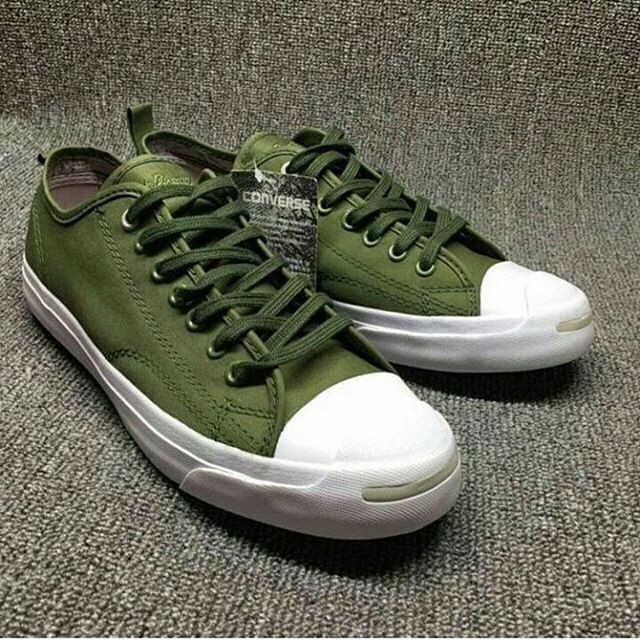 Jual Converse Jack Purcell Green Army Original Sepatu Jalan Main Run ... f82fa024a1