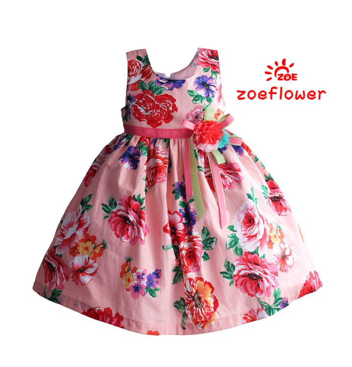 harga Dress anak import - zoe flower zf 406 Tokopedia.com