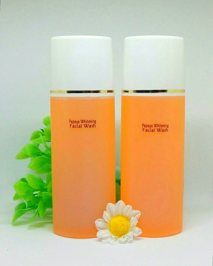 harga Facial wash pepaya -- papaya wash -- sabun pepaya whitening 100 ml Tokopedia.com