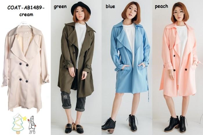 harga Winter long coat jacket jaket blazer cardigan wanita korea import Tokopedia.com