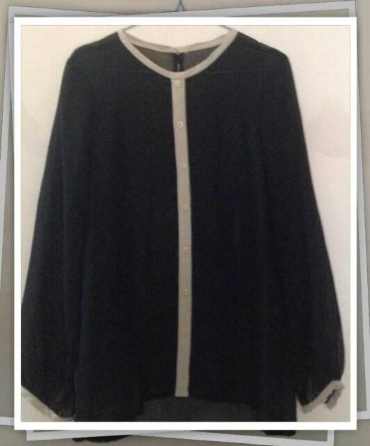 Baju wanita blouse black simple