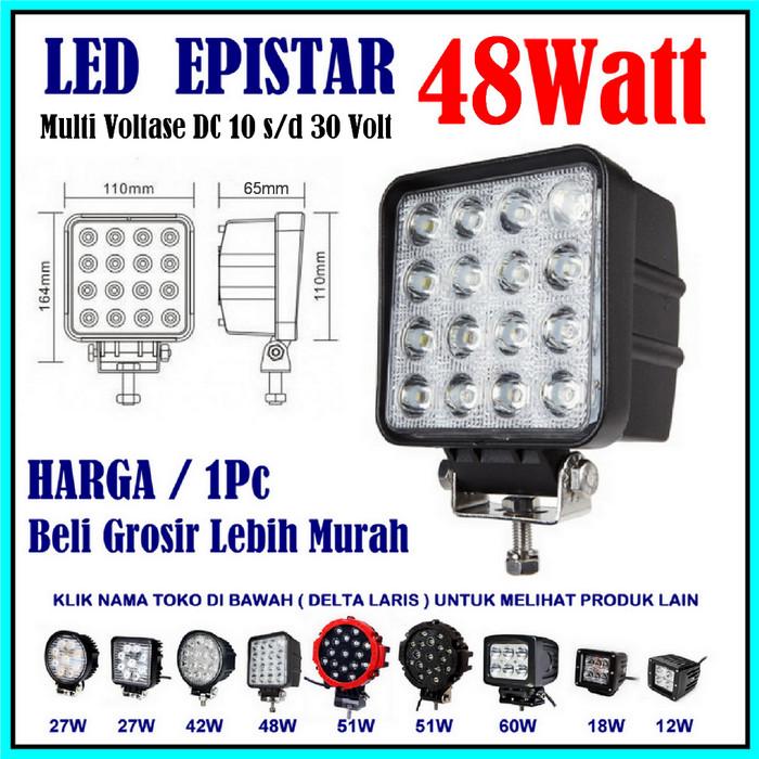 harga Lampu sorot tembak led offroad 48w 48watt mobil motor 12volt 24volt Tokopedia.com