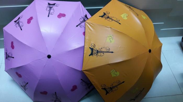 Payung lipat 3 motif paris lapis uv
