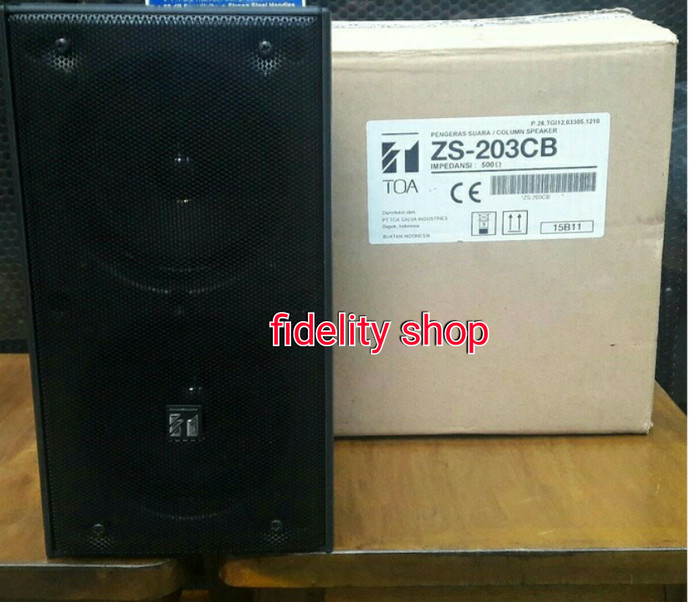 harga Column speaker toa zs -203cb/cw (20 watt) original Tokopedia.com