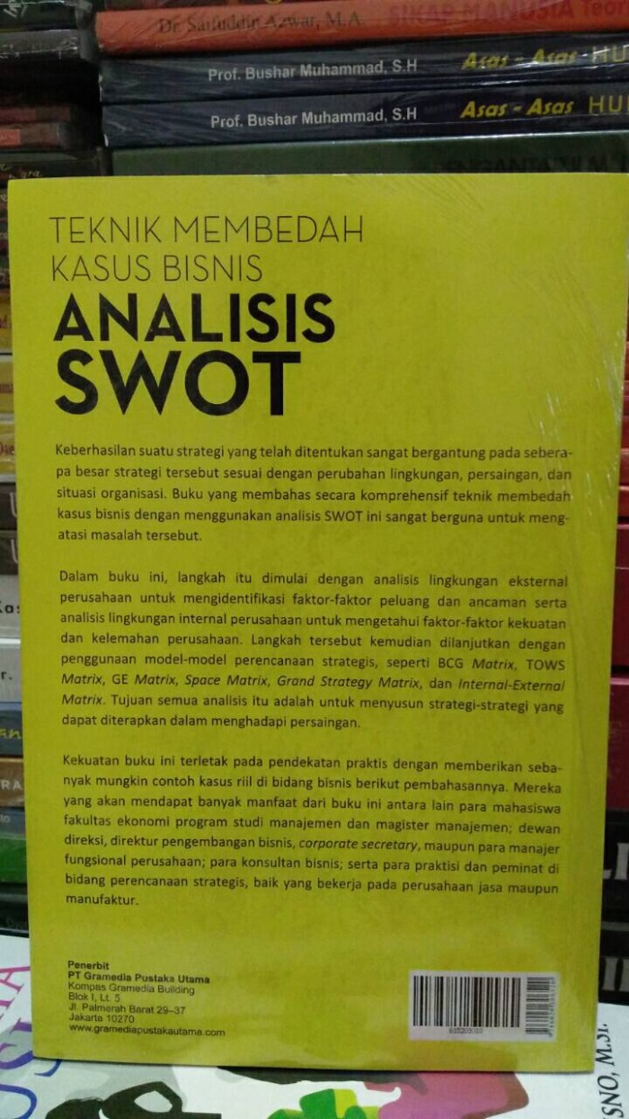 Jual Analisis Swot Teknik Membedah Kasus Bisnis By Freddy Rangkuti