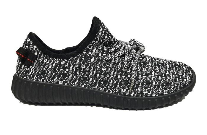 196dc6d7dd44b Jual Sepatu Adidas Yeezy Boost 350 Hitam Putih   Black White Pria ...