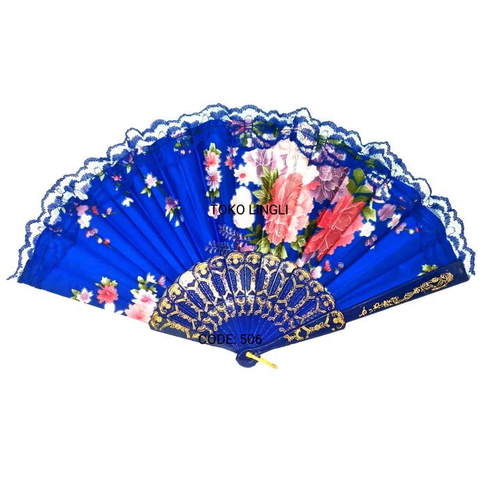 Foto Produk Kipas tangan Satin motif batik 506 dari tokolingli