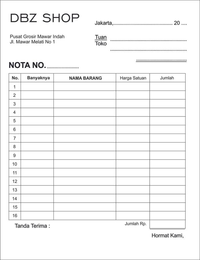 Jual Cetak Nota Bon 3 Rangkapply Carbonless Tanpa Karbon Jakarta Pusat Aneka Offset Printing Tokopedia