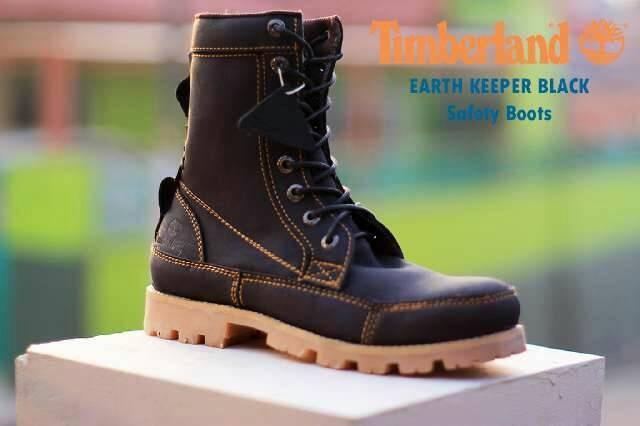 Jual sepatu pria boots casual timberland safety ujung besi m Diskon ... 78f04a0159