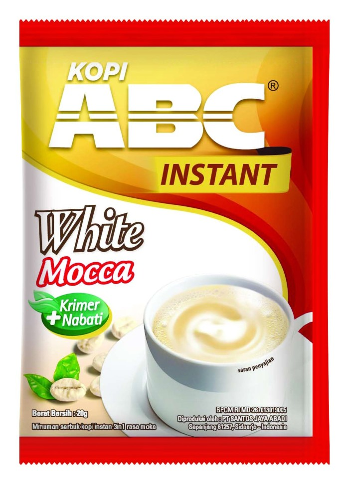 Jual ABC Instant White Mocca Kopi Bag (Isi 20 sachet @20 Gram) - Fastana Store - OS | Tokopedia