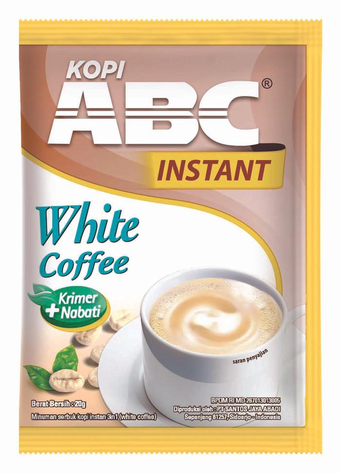 Abc White Instant Coffee Bag (isi 20 Sachet @20 Gram)