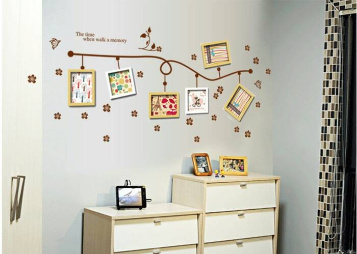 jual wallpaper / wallsticker unik bentuk frame photo unik wpkhm065