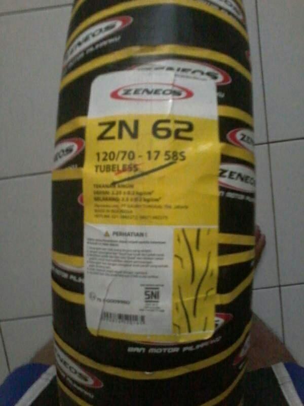 harga Paketan ban tapak lebar !!! 120/70-17 & 150/60-17 zn62 tubles Tokopedia.com