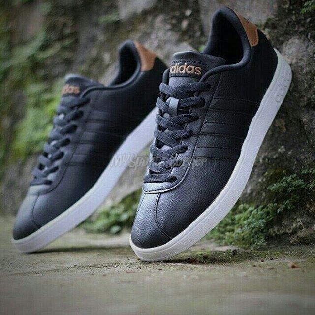 finest selection 08dbc 47650 Adidas Neo VL Court Black White Brown