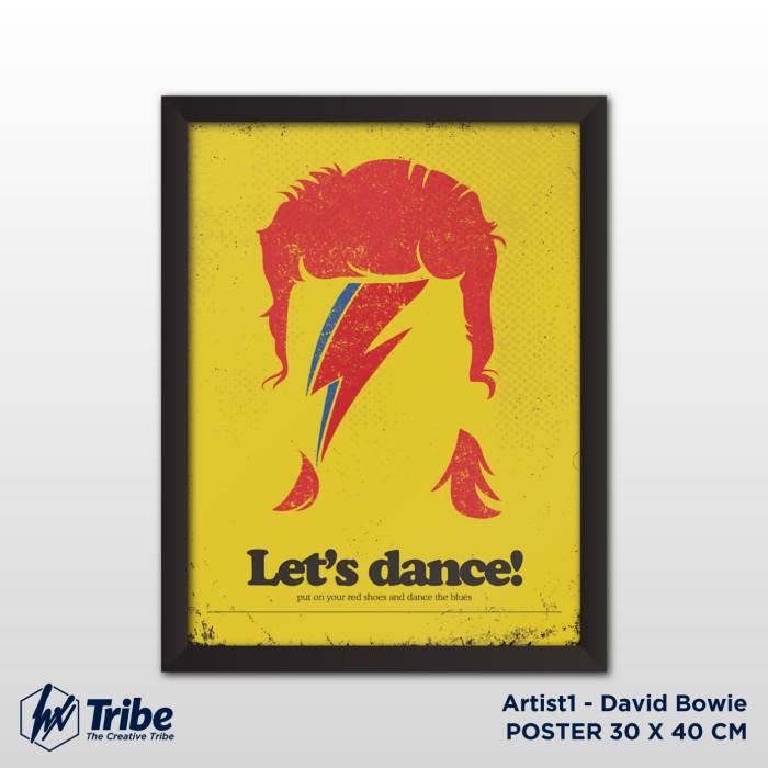 harga Poster 30 x 40 cm / a3 + frame tanpa kaca - artist david bowie Tokopedia.com