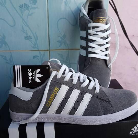 harga Sepatu adidas campus abu-abu Tokopedia.com