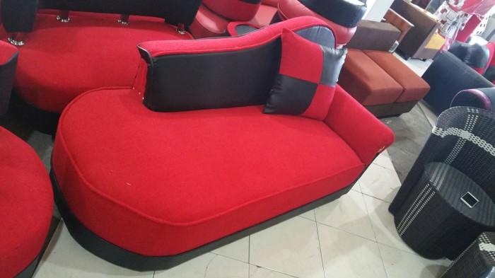 Jual Sofa Santai Merah Hitam Panjang Bantal Mewah Free Ongkir Kota