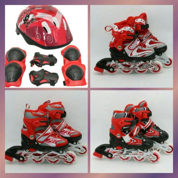mainan anak sepatu roda helm Decker pelindung lutut inline skate power cb78e83b57