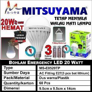 Foto Produk Jual Lampu Ajaib Dipegang Nyala Led Emergency 20w MITSUYAMA dari Claudia Krystina