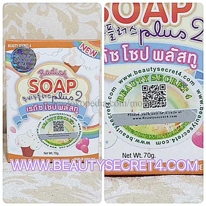 LIMITED RADISH SOAP PLUS 2 by BEAUTY SECRET 4 / SABUN PENGHILANG BEKAS