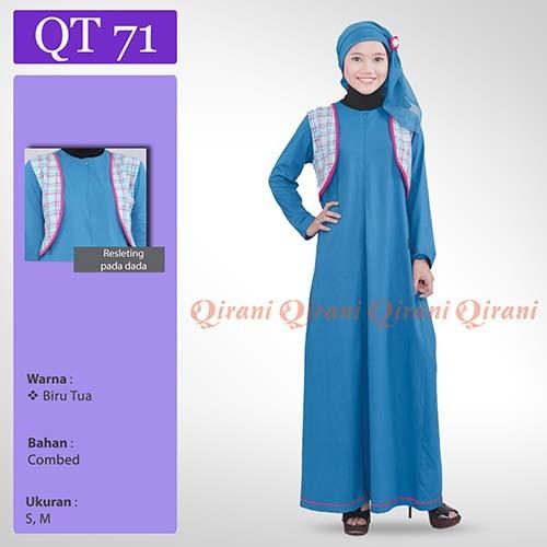 Jual Dress Gamis Qirani Teen 71 Baju Muslim Remaja Gudang