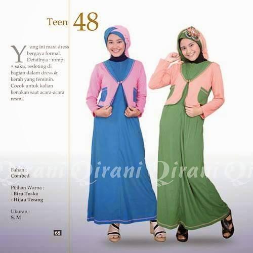 Jual Dress Gamis Qirani Teen 48 Baju Muslim Remaja Gudang