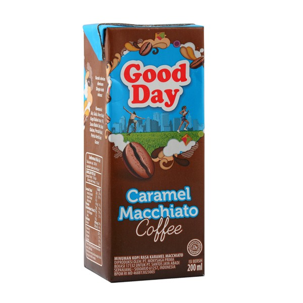 harga Good day kopi ready to drink tetra -caramel machiatto 200ml pack of 12 Tokopedia.com