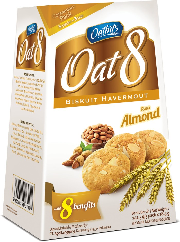 """""""Oatbits Oat 8 Almond Box (5x28.5gr)"""""""