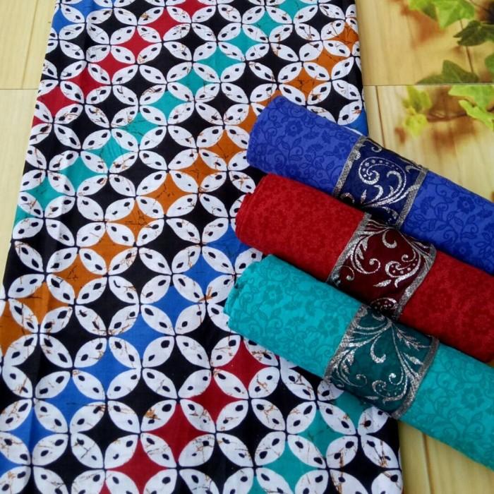 kain batik pekalongan motif kawung + embos