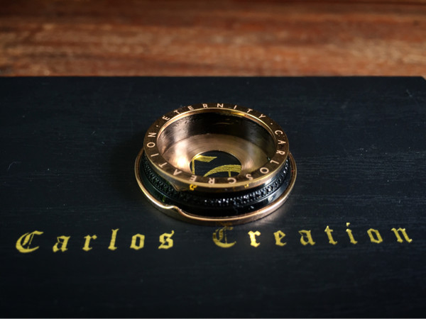 Carlos Creation eternity black rose beauty ring