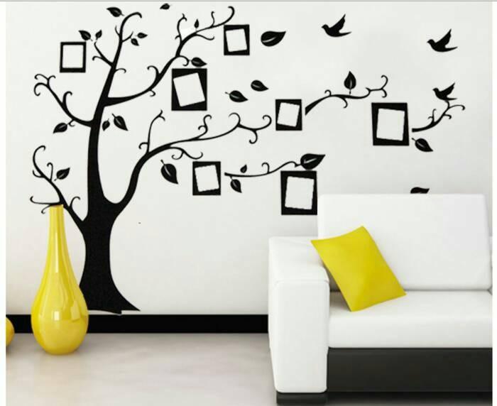 jual stiker dinding / wall sticker unik bentuk frame di pohon