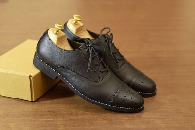 harga Promo !! sepatu formal kerja pria - azcost oxford original black/brown Tokopedia.com