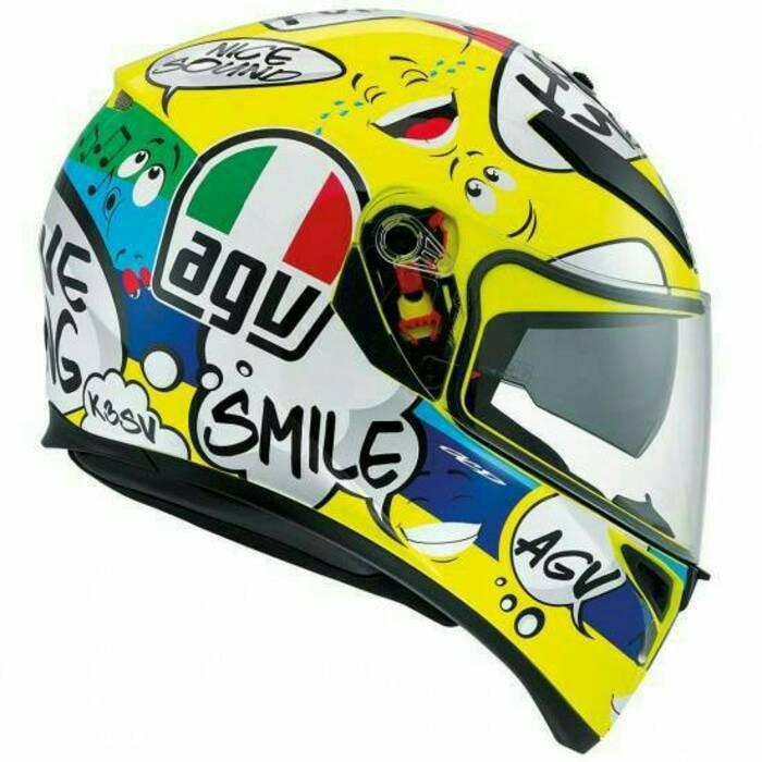 Helm Motor Full Face Fullface AGV K3 SV Rossi VR46 Groovy Original 2