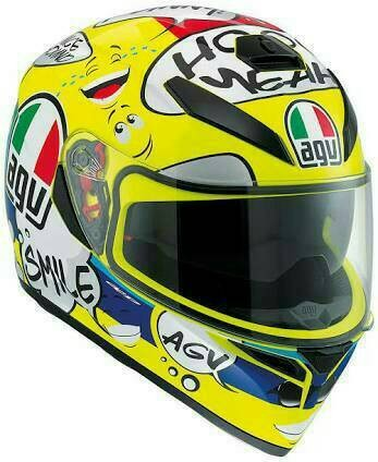 Helm Motor Full Face Fullface AGV K3 SV Rossi VR46 Groovy Original 1