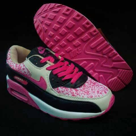 Jual sepatu nike air max 90 floral cream black pink Murah ... f709f0b639