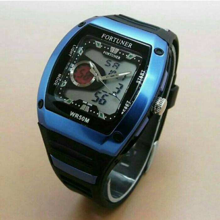 ... Fortuner Dual Time FR J759 AD Jam Tangan Pria Rubber Strap