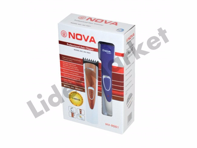 Nova rechargeable electric hair and beard trimmer-WIRELESS TANPA KABEL 61f3ecc5dd