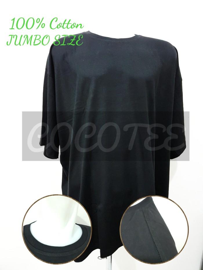 Kaos Polos Jumbo Size / Big Size Katun Combed 30s Size 4XL / XXXXL