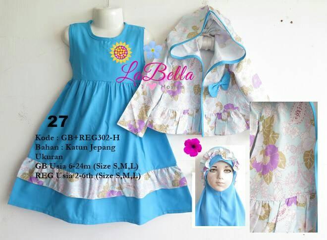 harga Dress gamis hoodie anak labella 2-6th reg302 biru 27 Tokopedia.com