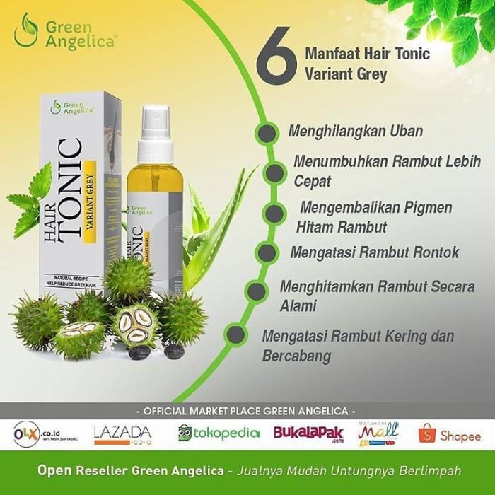 harga Green angelica obat uban cara menghitamkan rambut uban putih alami Tokopedia.com