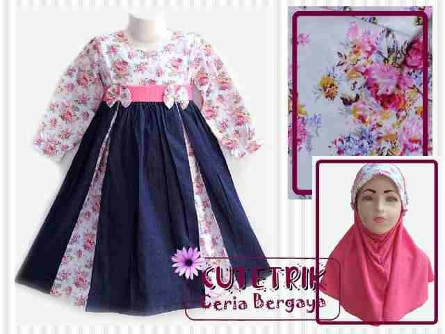 Jual Dress Baju Muslim Gamis Anak Lucu Murah Cutetrik 3-4 tahun ... 08bf9c2f32