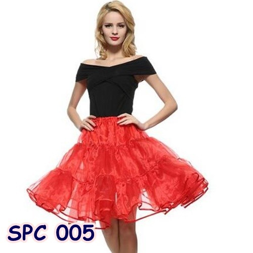 harga Rok petticoat / rok tutu pengembang dress pesta merah wanita - spc 005 Tokopedia.com